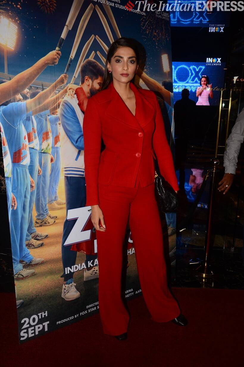 Sonam Kapoor at The Zoya Factor screening