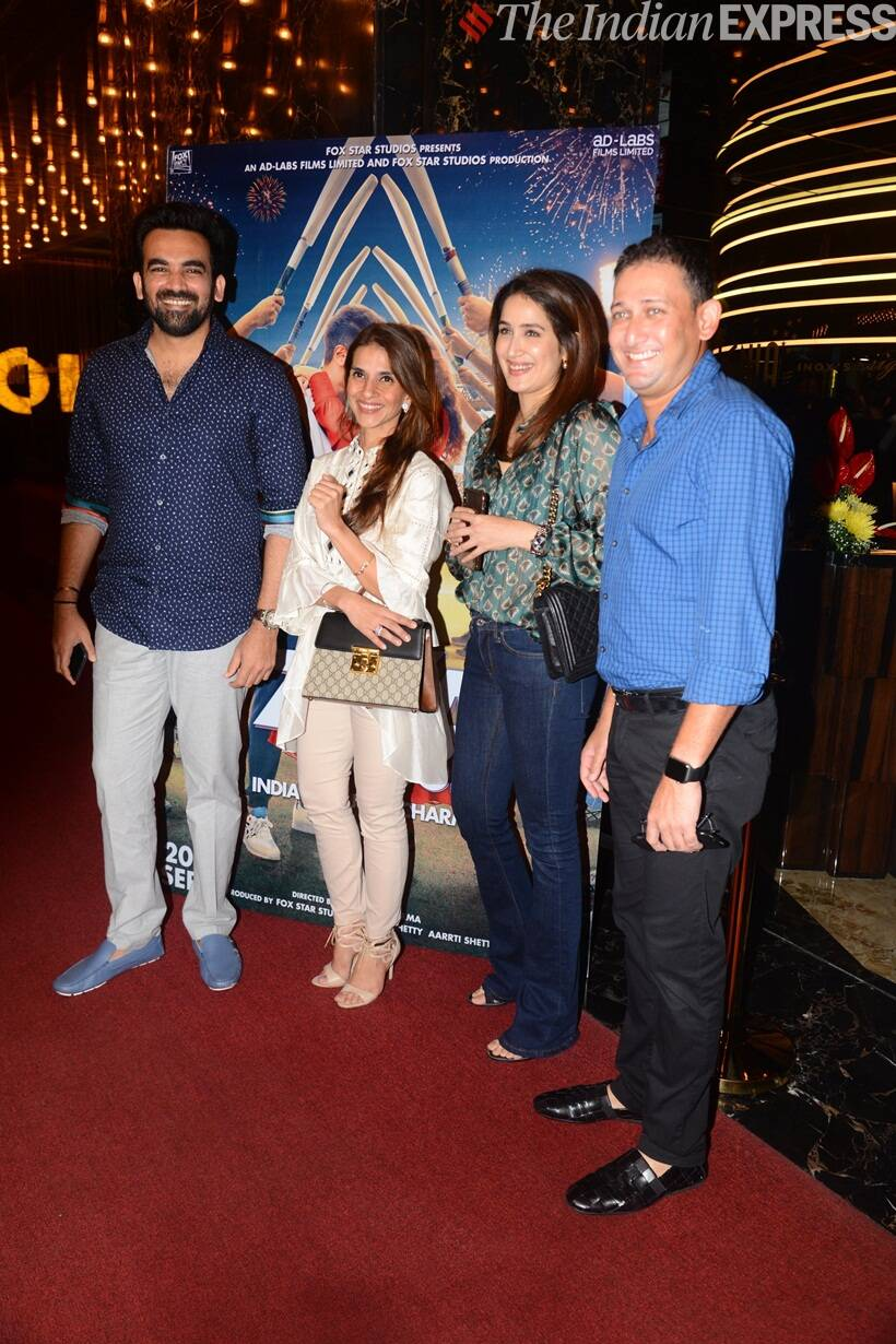 Zaheer Khan with Ajit Agarkar at The Zoya Factor screening