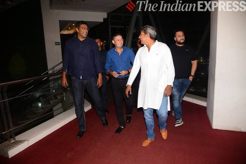 ajit agarkar and ajay jadeja at The Zoya Factor screening