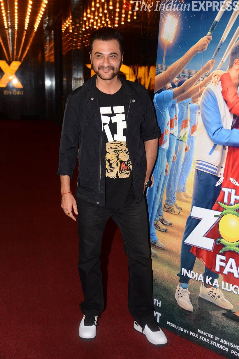 sanjay kapoor at The Zoya Factor screening