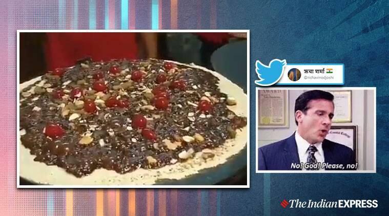 chocolate dosa, chocolate dosa video, scary food video, bizarre food videos, viral videos, indian express