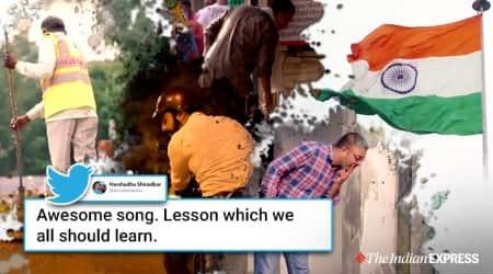 Don't spit campaign, Don't spit campaign music video, Ezy spit, Swachh Bharat mission Gandhi Jayanti,#ThukMat, Narendra Modi, Trending, Indian Express news