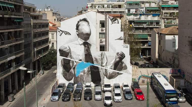 Street art of Athens, Street art of Athens , sunday eye, Street art of Athens sunday eye, indian express, indian express news
