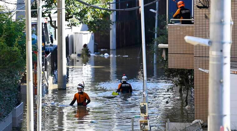 Typhoon Hagibis leaves as many as 35 dead as Japan continues rescue