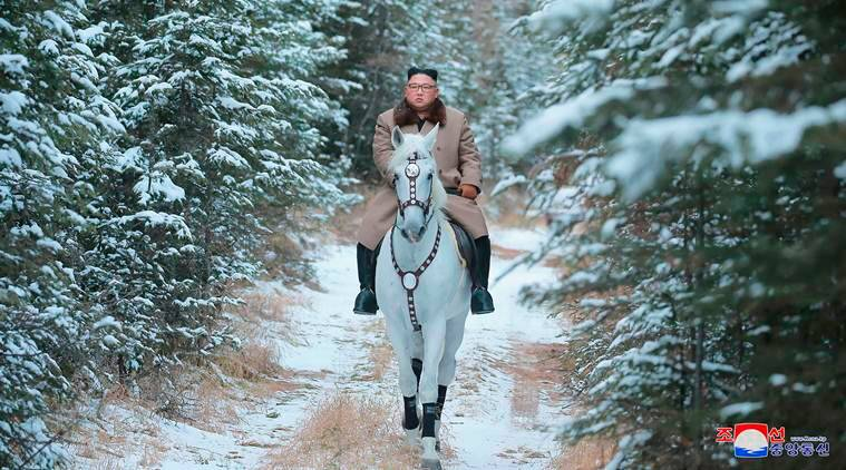 Kim Jong rides white horse on sacred mountain, plans 'great operation'