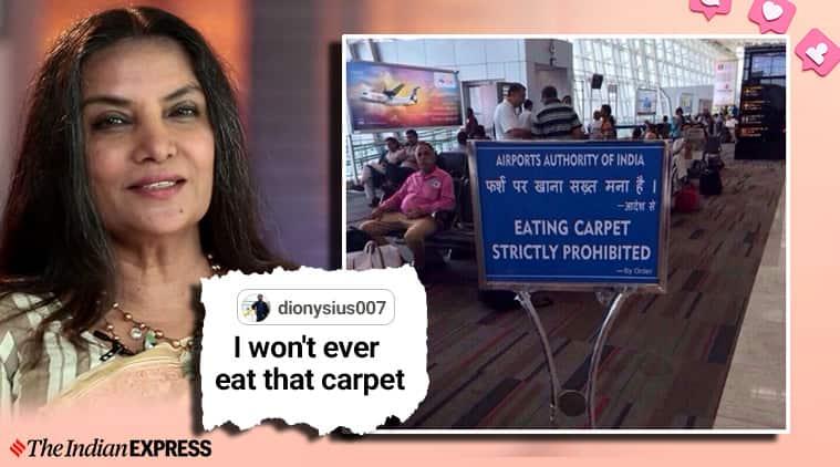 Shabana Azmi, Airport Authority of India, AAI, Airport Authority of India responds to Shabana Azmi , Shabana Azmi chennai airport, chennai airport sign, chennai airport pics, Shabana Azmi movies, Shabana Azmi twitter, trending, indian express news