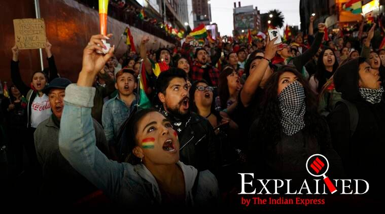 Bolivia, Bolivia protest, Bolivia protests news, Evo Morales Bolivia, Indian Express Explained