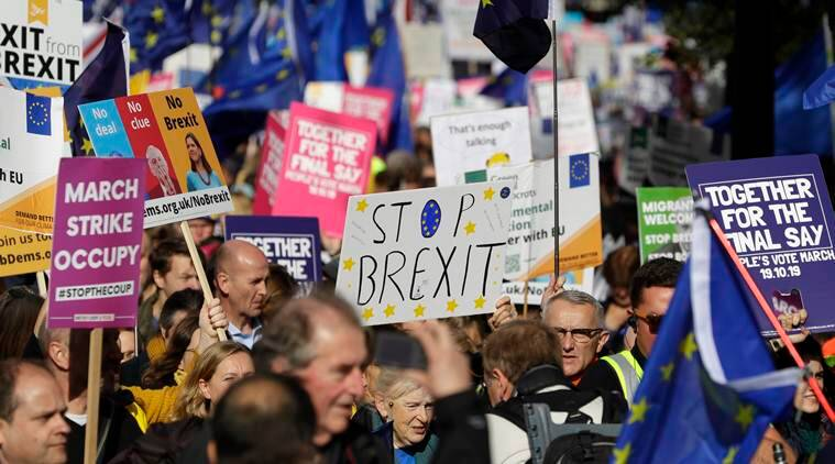 Brexit, Brexit news, Brexit protests London, London Brexit portest, Brexit voting UK, Brexit UK European Union, Indian Express news