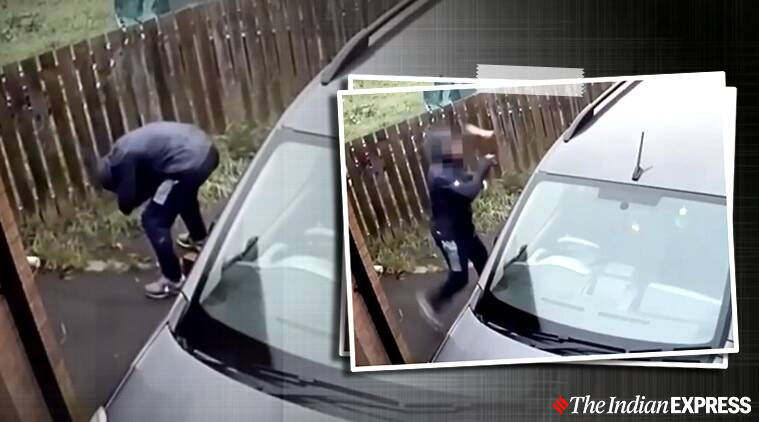 'Instant karma': Man throws brick at car's window, it bounces back and hits his face