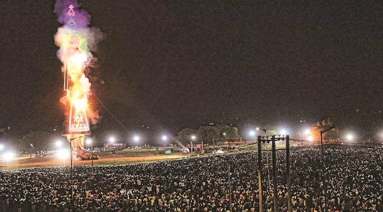 Chandigarh news, Chandigarh ravana burning, Chandigarh tallest ravana burning, Chandigarh pollution, Chandigarh air quality