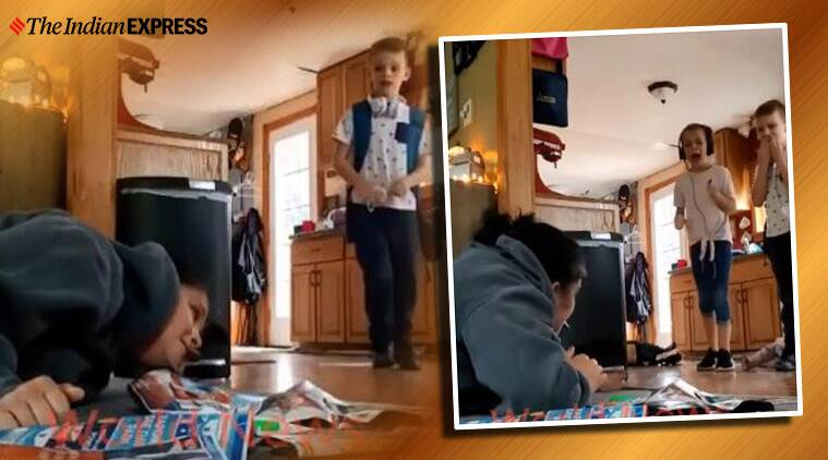 mom pranks kid to teach life lesson, brutal prank by us mom, Kids pranked by mom, US, Viral video, Prank video, Trending, Indian express news