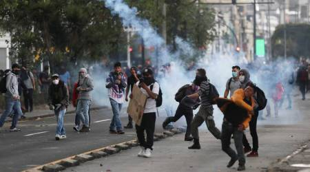 Ecuador arrests 350 people in two days of anti-austerity protests