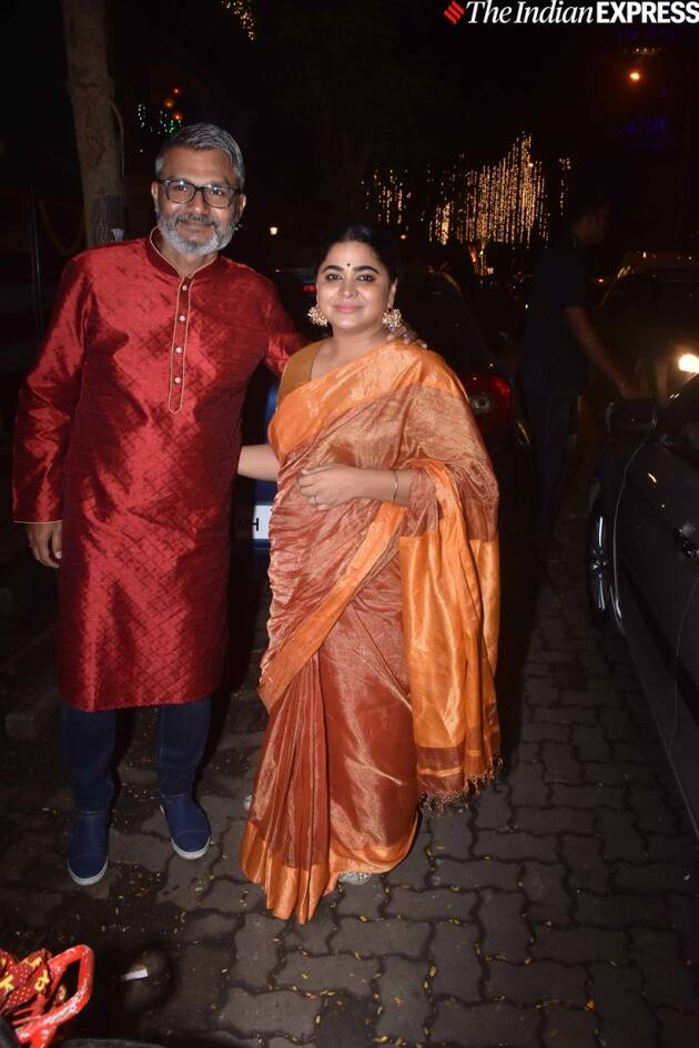 Nitesh Tiwari and Ashwiny Iyer Tiwari at Ekta Kapoor party
