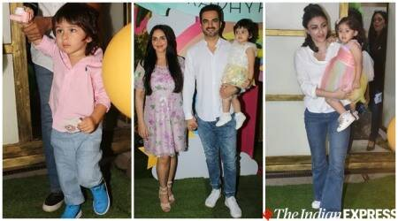 Esha Deol daughter Radhya birthday bash Taimur, Inaaya