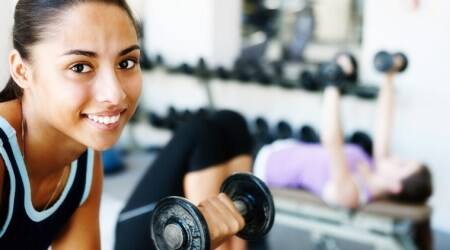 Tiktok, indianexpress.com, indianexpress, fitness goals, #gymtime, gym fitness, exercises in gym, pushup challenge in gym, TikTok fitness gym time,