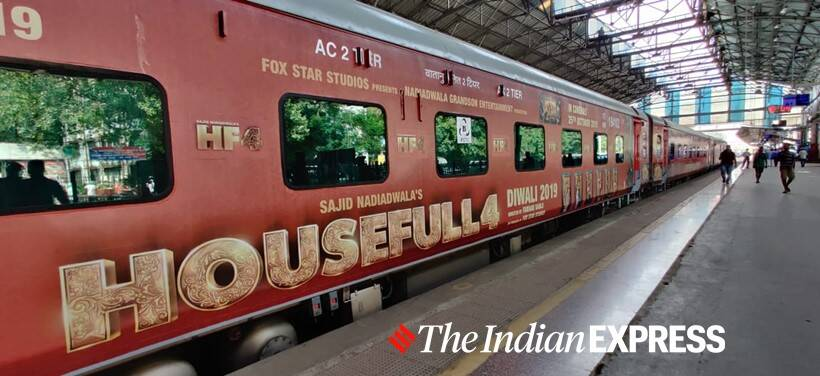 housefull 4 cast on train