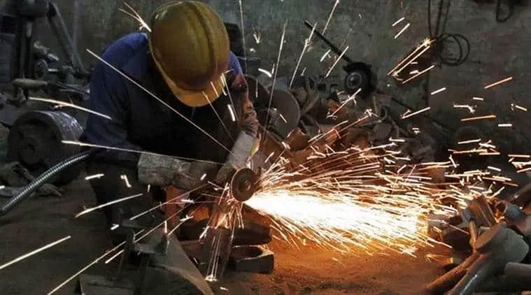 Factory output dips, IIP dips, industrial production, dip in industrial production, India news, Indian Express