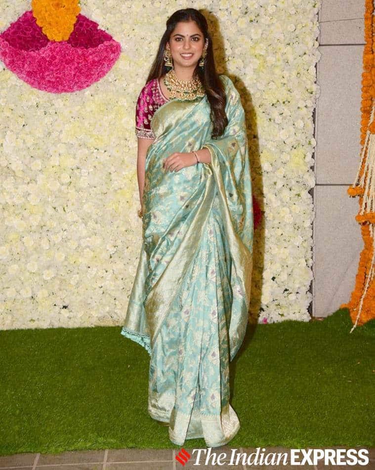 Isha Ambani, silk Sabyasachi sari, Isha Ambani same sabyasachi blouse