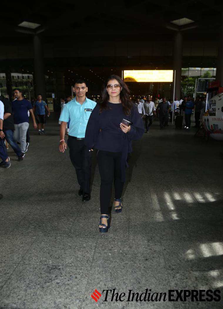 Kajol, airport look, airport looks, Indian Express, Indian Express news