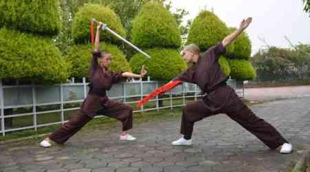 kung fu nuns, indianexpress.com, indianexpress, kung fu bruce lee, buddhist nuns, 'Bicycle Yatra for Peace', Asia Society's Gamechanger Awards, Nepal Earthquake, Jigme,