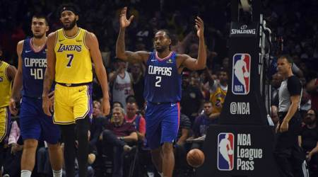 LA Clippers forward Kawhi Leonard and Los Angeles Lakers center JaVale McGee