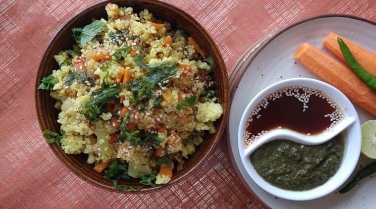navratri recipe, millet fried rice, indianexpress, shalini rajani column, indianexpress.com, barnyard millet, sattvik food,