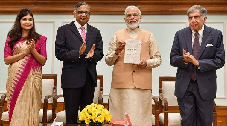 Narendra Modi, Modi Ratan Tata book launch, Modi on technology, Bridgital India, Bridgital India book, indian express news