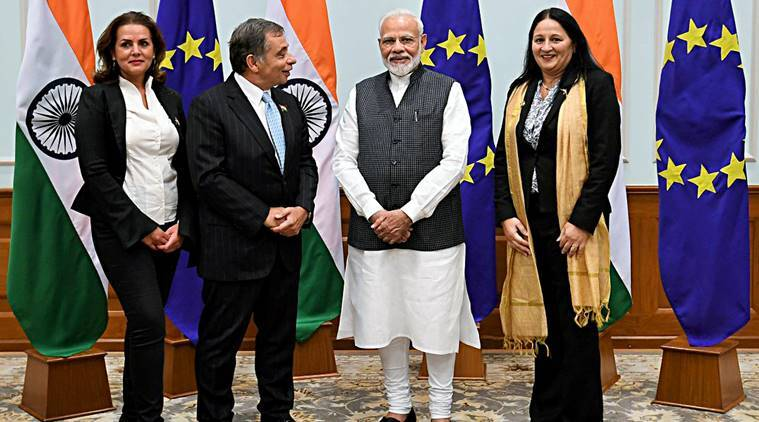 brexit, european union, anti immigrants, Prime Minister narendra Modi, Modi eu mp meet, eu meet on jammu and kashmir, Kashmir, UK, France, Germany, Italy, Poland, Czech Republic, Slovakia, indian express