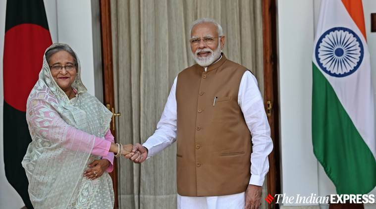 India Bangladesh relations, Shiekh Hasina, Narendra Modi, Shiekh Hasina in India, Indo-Bangladesh relations, Indian Express news