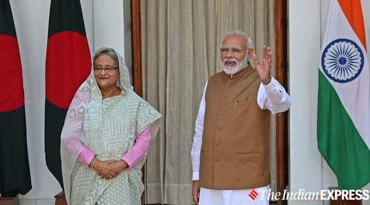India Bangladesh deals, Sheikh Hasina India, Modi Sheikh Hasina, India Bangladesh NRC, NRC, indian express