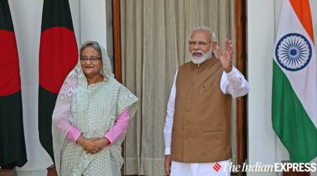 India Bangladesh deals, Sheikh Hasina India, Modi Sheikh Hasina, India Bangladesh NRC, NRC, indian express