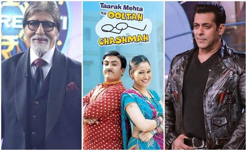Most watched Indian television shows Taarak Mehta Ka Ooltah Chashmah kbc 11 bigg boss 13
