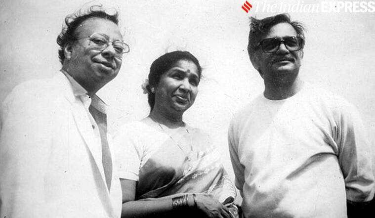 Music Composer RD Burman, singer Asha Bhosle and lyricist Gulzar