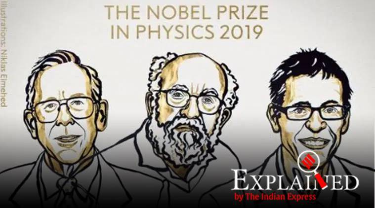 nobel prize 2019, nobel prize in physics, physics nobel prize, James Peebles, Michel Mayor, Didier Queloz, physics nobel 2019, 2019 physics nobel, express explained, indian express
