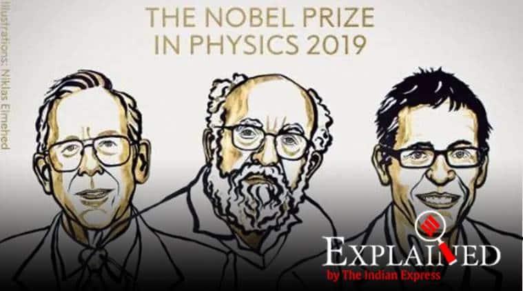 nobel prize 2019, nobel prize in physics, physics nobel prize, James Peebles, Michel Mayor, Didier Queloz, physics nobel 2019, 2019 physics nobel, express explained, indian express