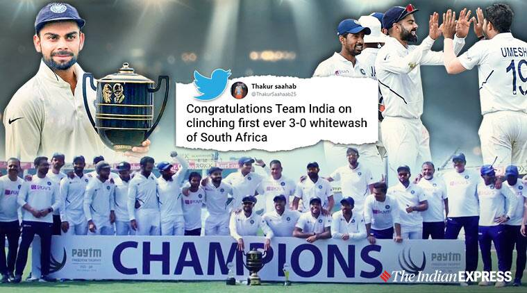 India vs South Africa, India wins against South Africa, India wins 3-day test series, India south Africa Ranchi test, India freedom trophy win, freedom trophy, Ranchi, Trending, Indian Express