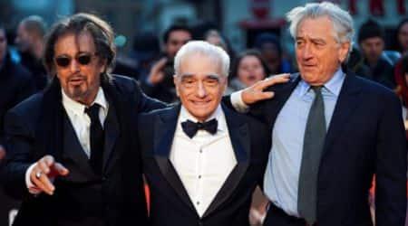 Martin Scorsese, Al Pacino, Robert De Niro at The Irishman premiere