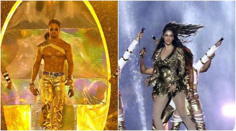 Tiger Shroff and Disha Patani performed at Hero Indian Super League opening ceremony