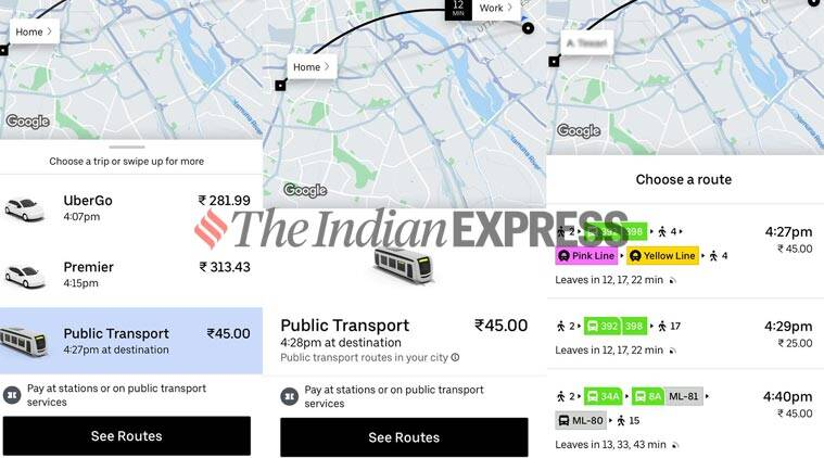 Uber launches Public transport feature in Delhi, will provide last mile connectivity