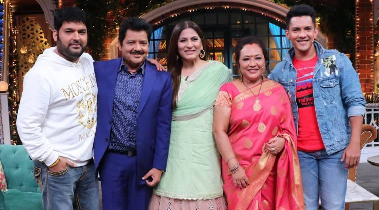 Image result for udit narayan with family in kapil sharma show