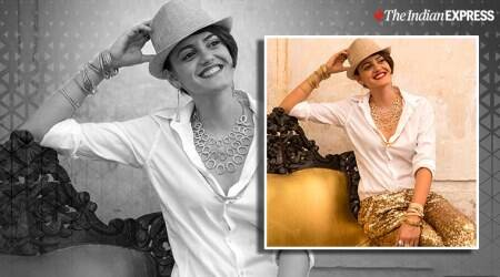 accessories to amp of white t-shirt, festive looks, festive looks for diwali
