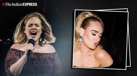 adele, drake birthday party, adele weight loss, indianexpress.com, indianexpress. drake hollywood party, hello adele, adele songs, adele fitness, major fitness goals,