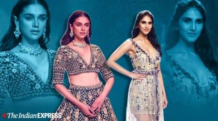 aditi rao hydari, vaani kapoor, aditi rao hydari bombay times fashion week, vaani kapoor fashion week, indian express, indian express news