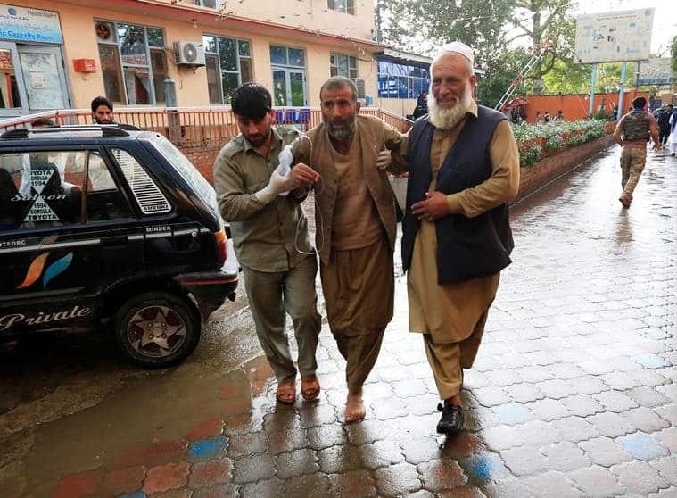 Afghanistan blast, Afghanistan bomb blast, Afghanistan mosque blast, Afghanistan mosque bomb blast, blast in Afghanistan mosque, World news, Indian Express