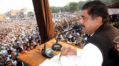 Ajay Chautala, Ajay Chautala furlough, Aja Chautala gets furlough, Ajay Chautala jail term, Dushyant Chautala, Dushyant Chautala swearing-in, Haryana Assembly elections, India news, Indian Express