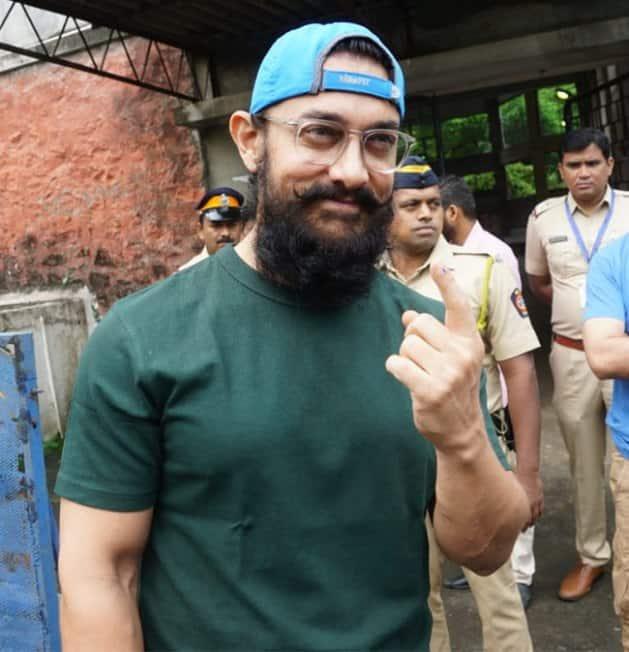aamir khan, aamir khan voting, aamir khan maharashtra assembly elections 2019