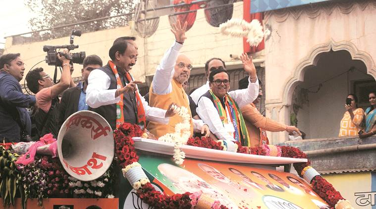 Amit Shah, Amit Shah rally, Amit Shah BJP, Amit Shah Satara rally, Amit Shah in Satara, Amit Shah Satara, Ashok Chavan, Amit Shah on Ashok Chavan, Maharashtra Assembly elections, Indian Express