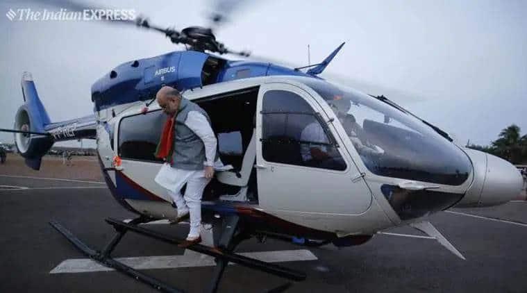 amit shah bsf chopper, bsf pilot impersonation, bsf pilot amit shah, amit shah chopper