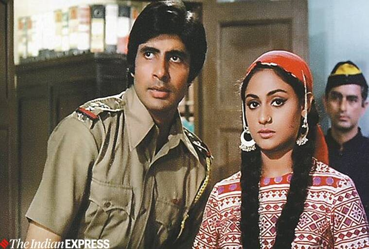 amitabh bachchan and jaya bhaduri in film zanjeer