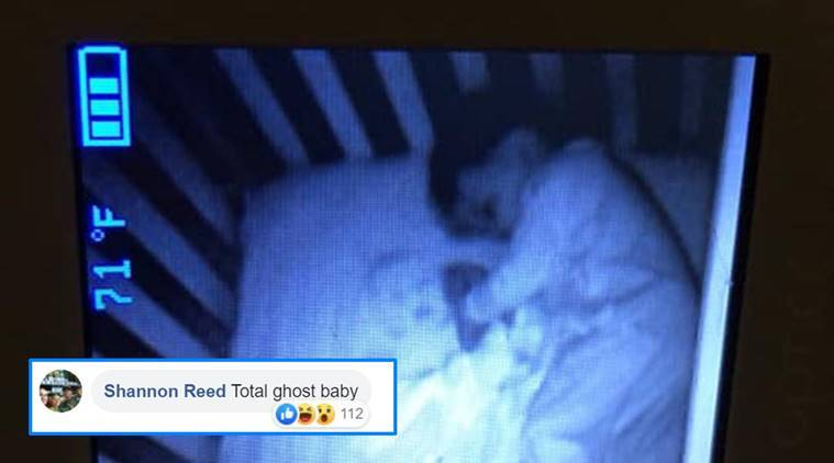 baby, ghost baby, ghost baby viral pictures, mom thinks baby crib haunted, haunted crib